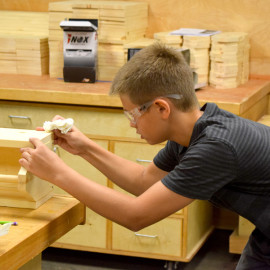 SPACE Camp construction mentorship for middle schoolers this week