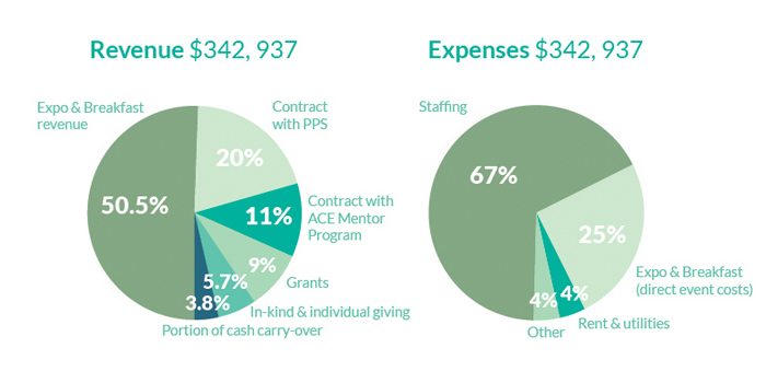 2015 PWA finances pie