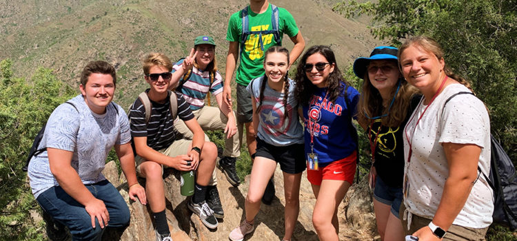 Ace summer camp hiking photo